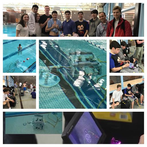 Underwater Robotics Team Makes a Splash at Inaugural Competition