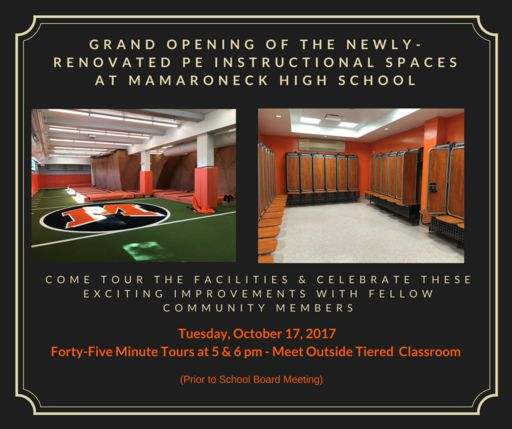 Grand Opening of Our Newly-Renovated PE Instructional Spaces!