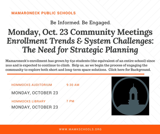 Important Community Meetings Oct. 23 at Hommocks