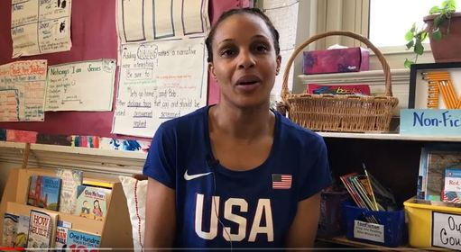Classroom Aide by Day; Olympian in Training by Night